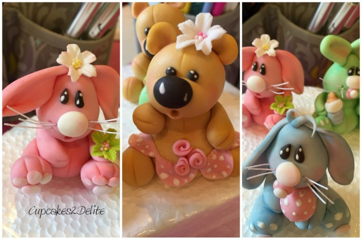 Sugar Paste Teddies & Rabbits