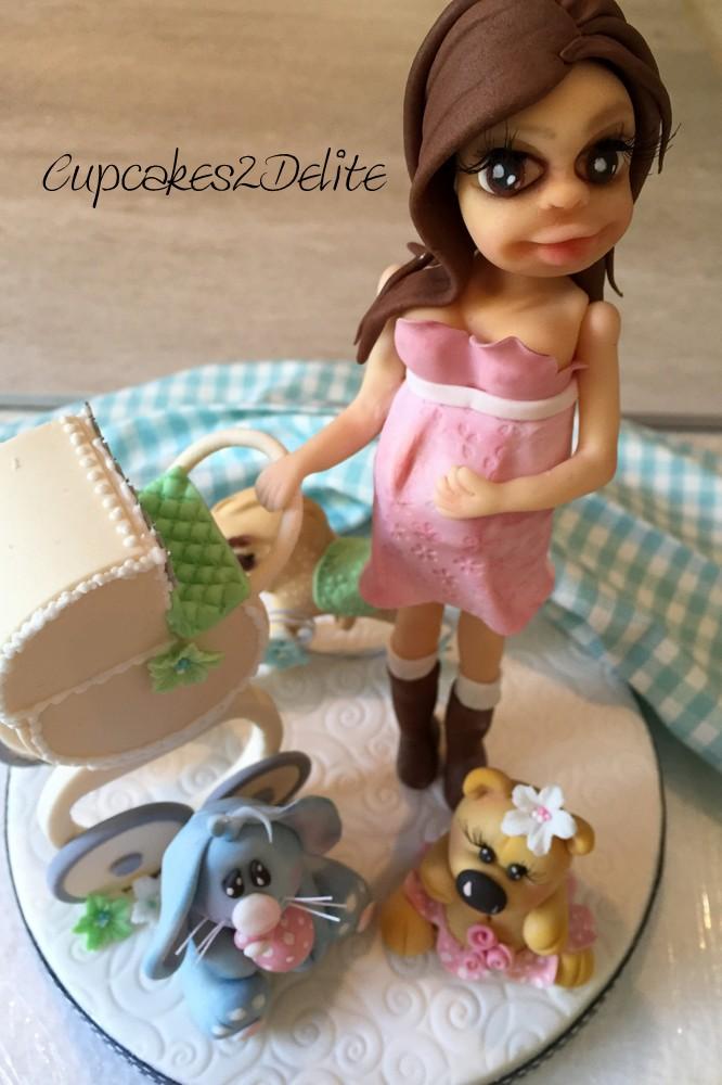 Preggy Lady Cake Topper