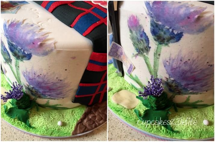 Scottish, Zimbabwean, South African 80th Cake