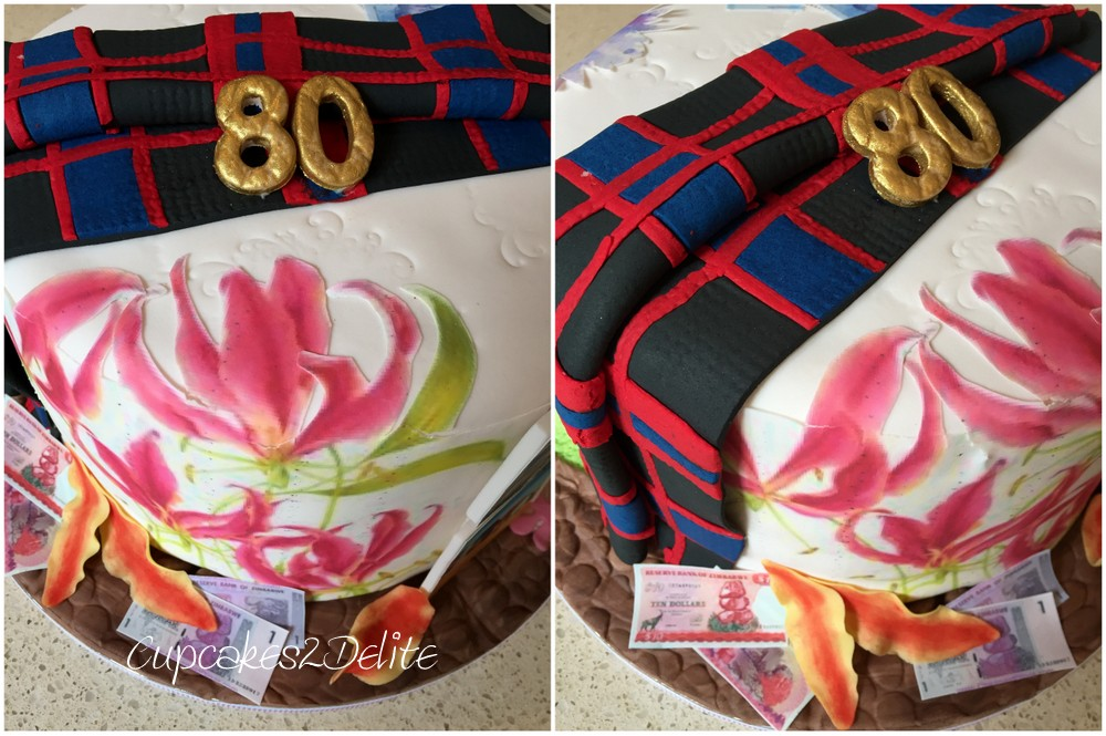 Scottish, Zimbabwean, South African 80th Cake