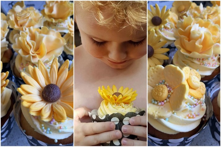Yellow Flower Cupcakes