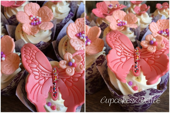 Coral Flower Cupcakes5