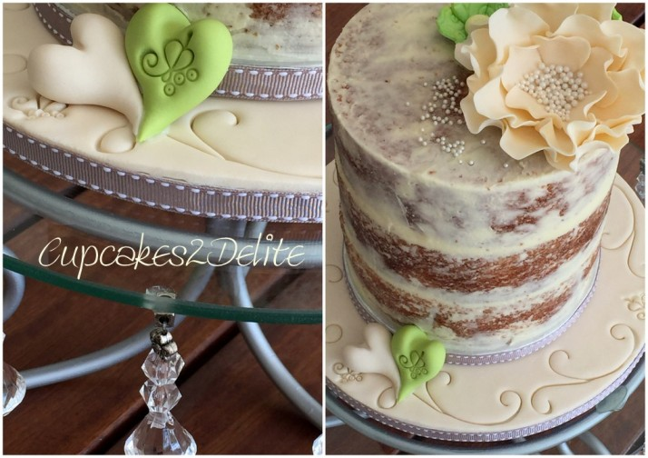 Nature Themed Naked Wedding Cake