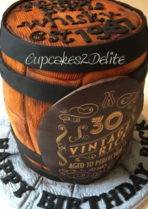 Whisky Barrel Cake