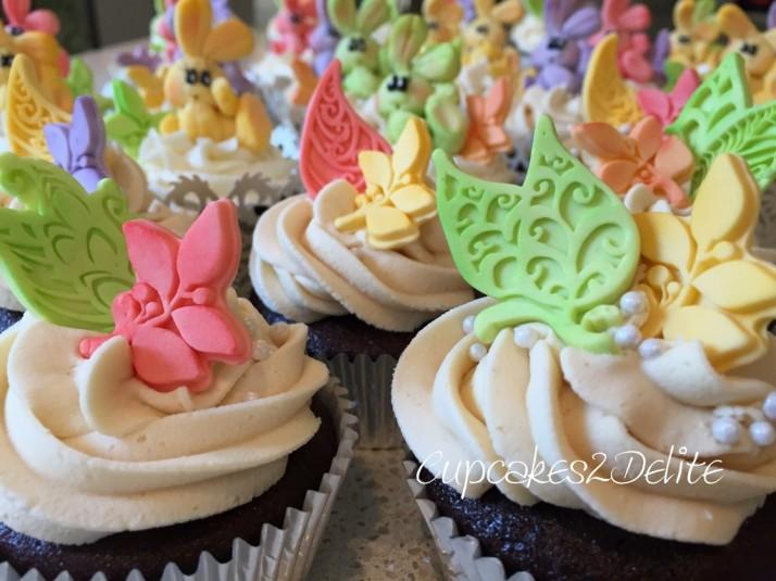 Bunny & Leaf Cupcakes