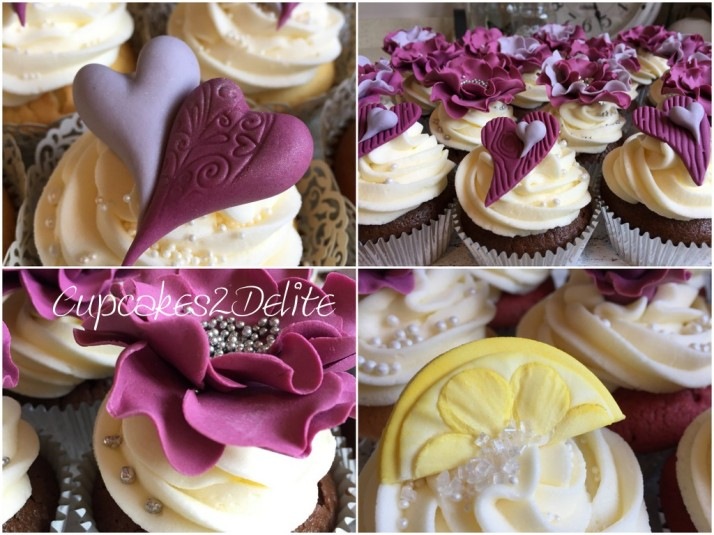 Craig & Anthea's Wedding Cupcakes