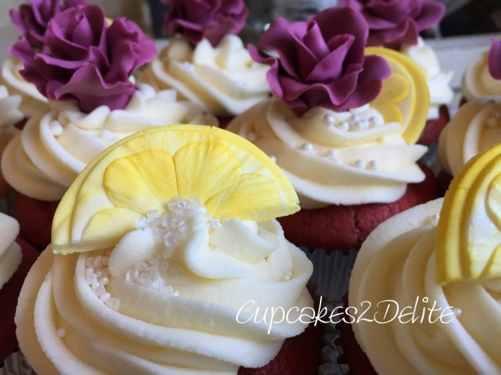 Lemon Wedges Wedding Cupcakes