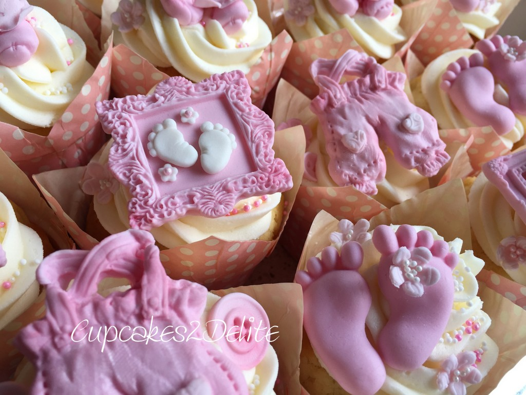 Baby Shower Cupcakes for a Girl
