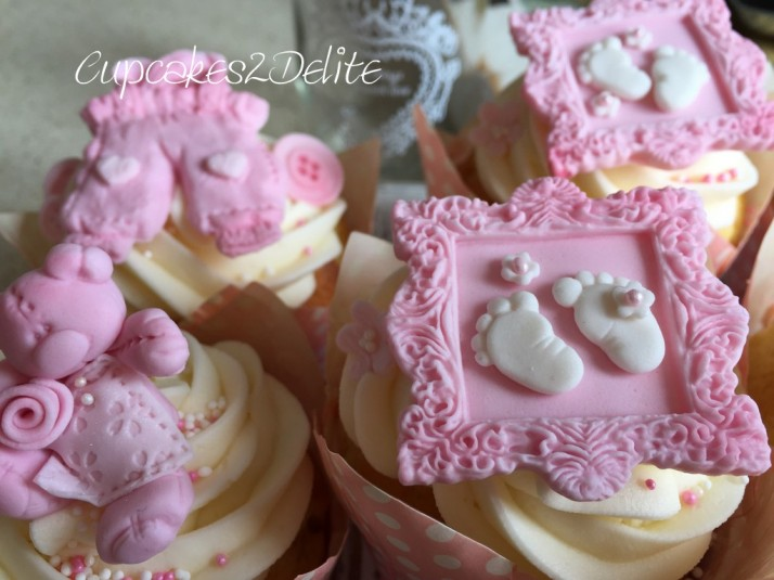 Cute Baby Girl Cupcakes Cupcakes2delite