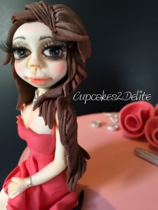 Figurine in Coral Dress