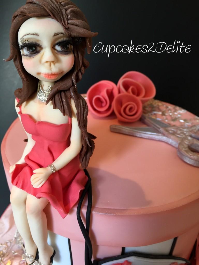 Figurine in Coral Dress