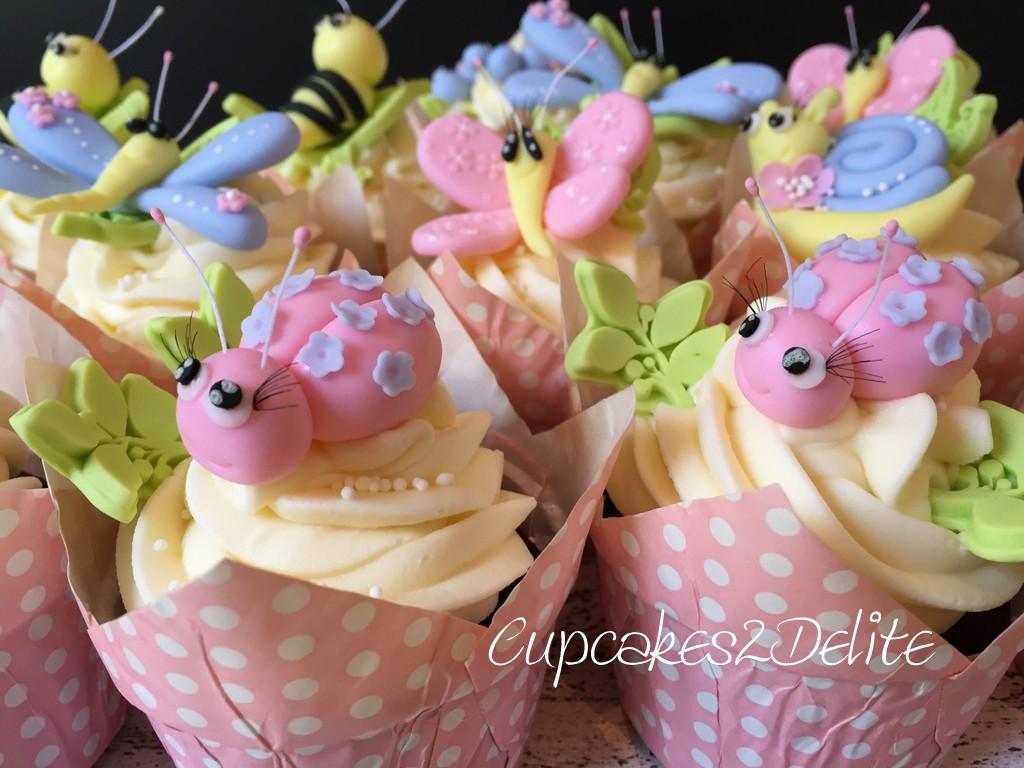 Cute Bug Cupcakes