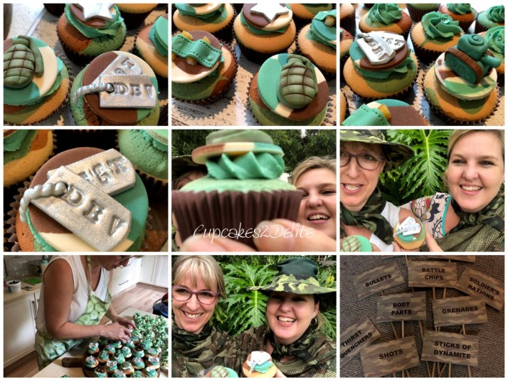 Army Cupcakes for a 16th Birthday
