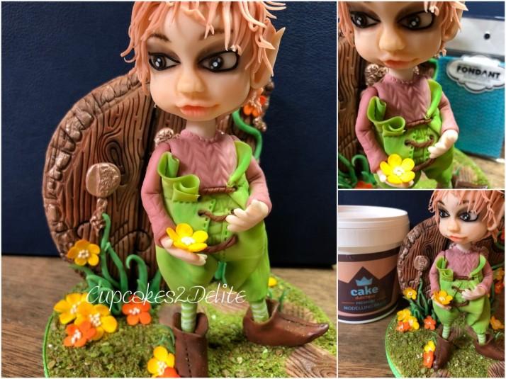 Elf Figurine for Cake Dutchess Edible Alphabet Collaboration