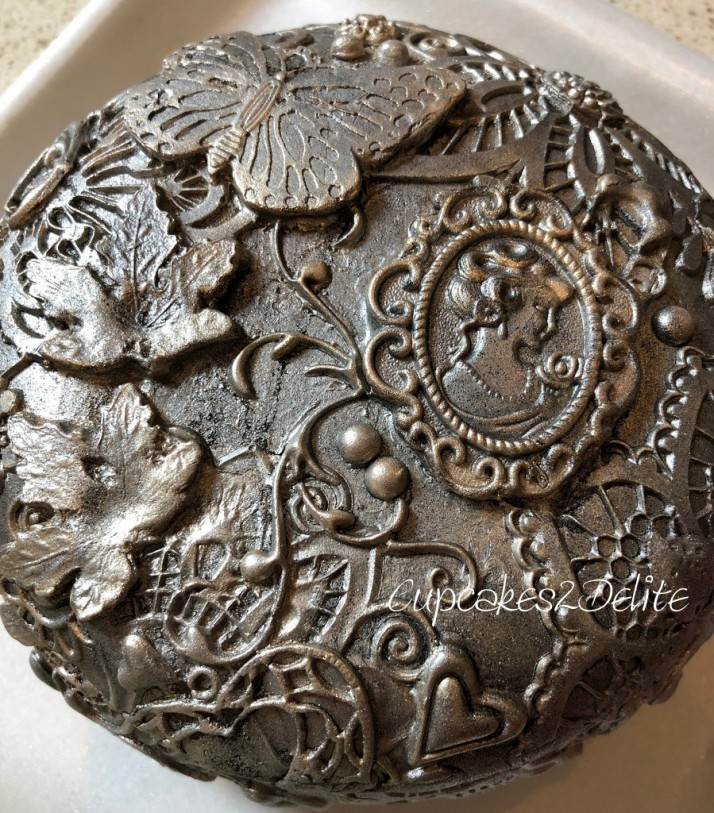Music Box Sugar Art with Crystal Candy Bas Relief Mould