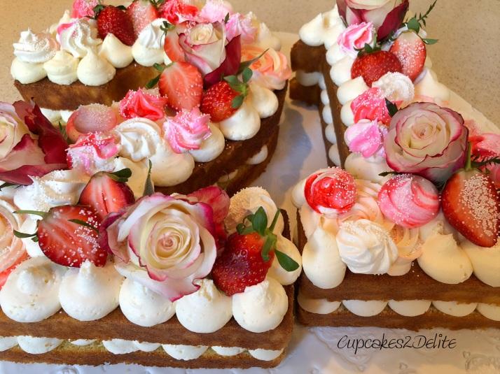 Flower 21st Cake