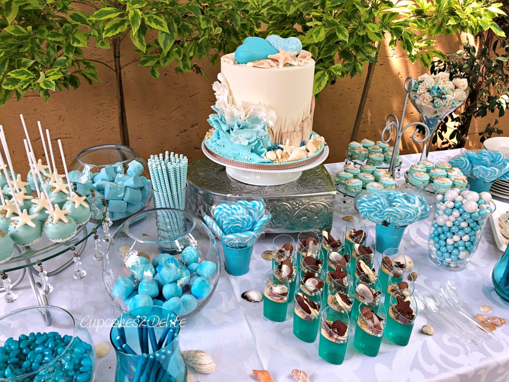 Beach Themed Bridal Shower Table