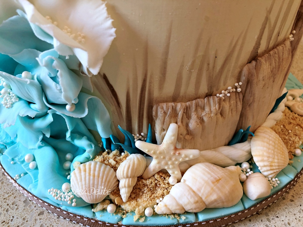 Beach Themed Bridal Shower Cake