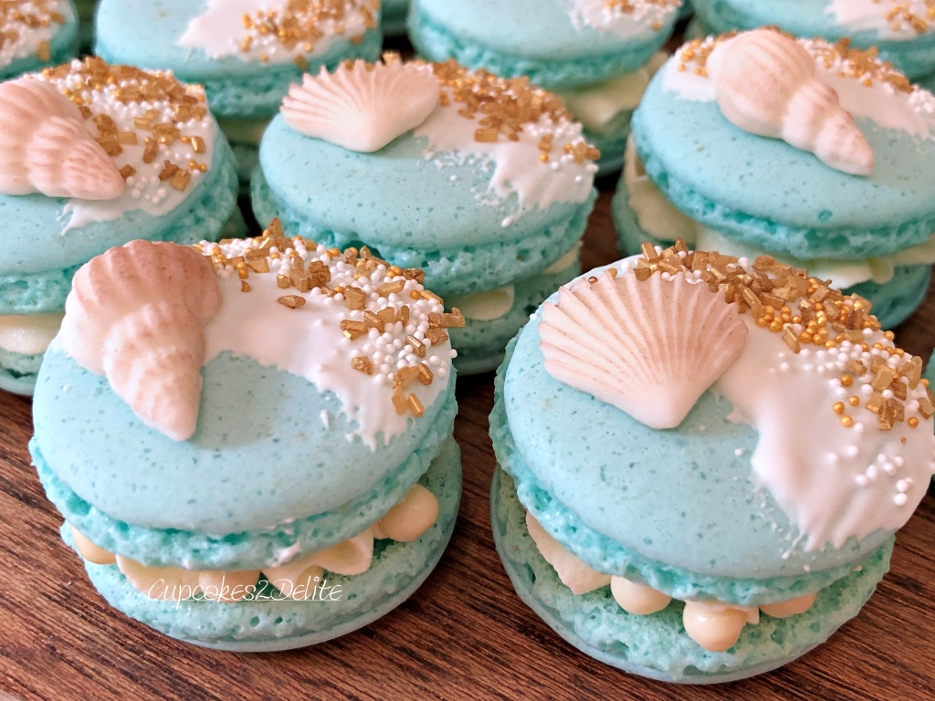 Beach Themed Macarons