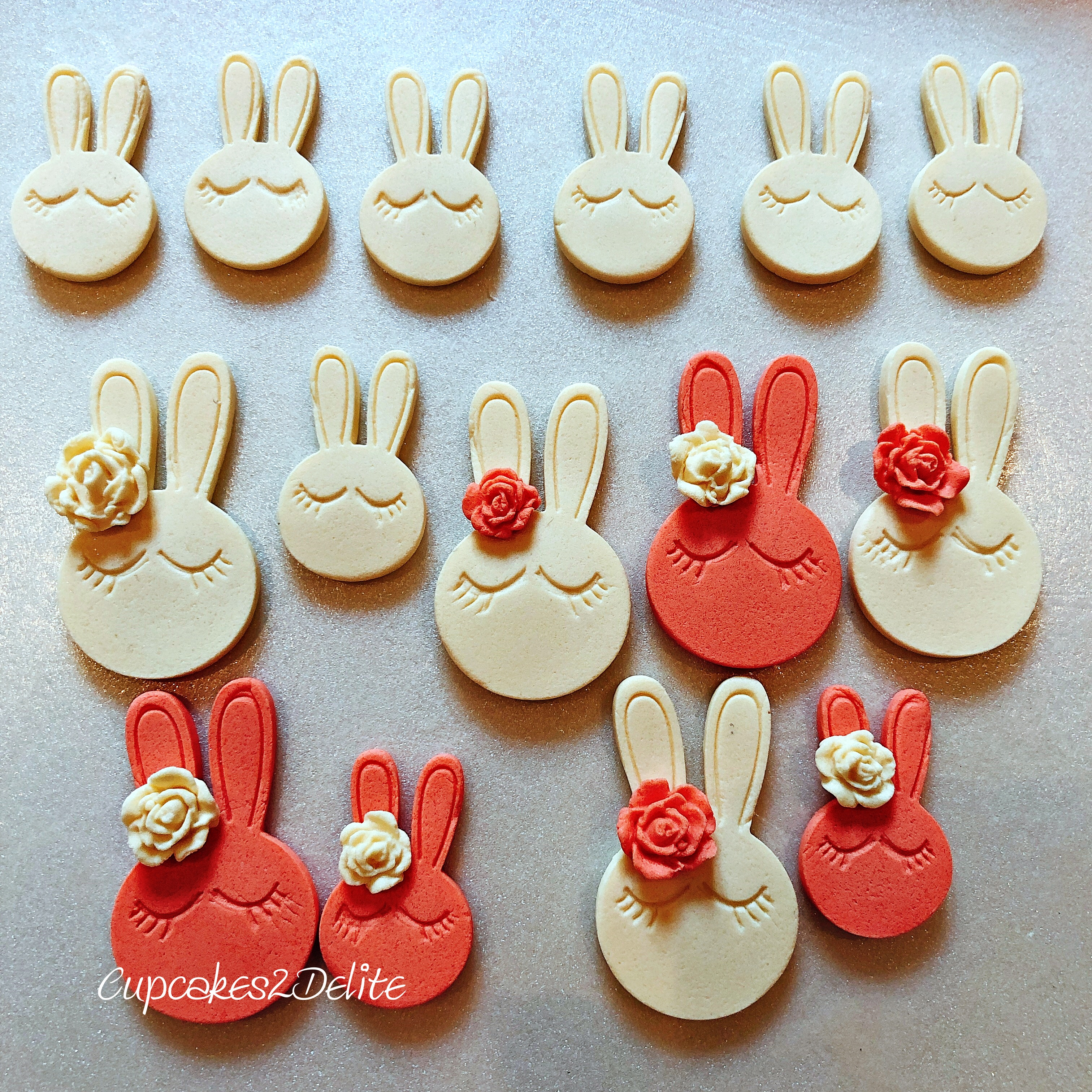 Easter Macaron Bunny Toppers